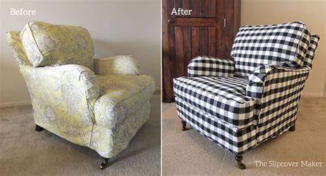 black and white check armchair the slipcover maker custom slipcovers tailored to fit