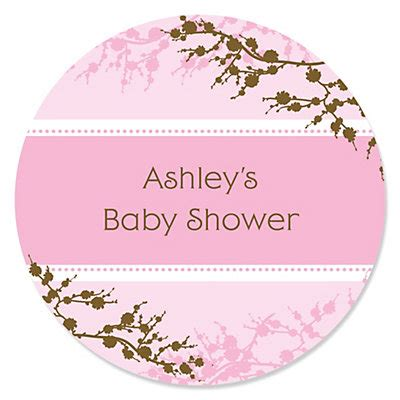 Sticker Labels For Baby Shower Favors by Baby Cherry Blossom Personalized Baby Shower Sticker