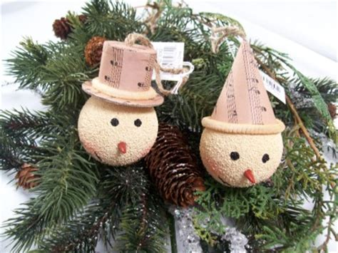 paper mache snowman new year decorations ornaments christmas nwt rustic snowman head carrot nose sheet music hat