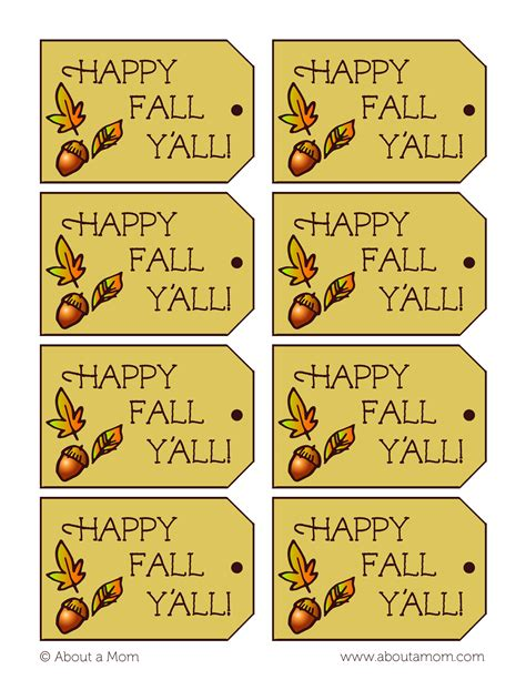 printable turkey gift tags acorn candy kisses recipe happy fall gift and gift