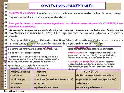 preguntas facticas contenidos de ense 241 anza conceptuales procedimentales y