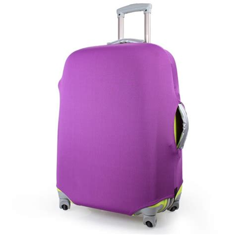Luggage Cover Elastic 24 1 x luggage protector elastic suitcase cover bags dust proof 24 purple lazada singapore