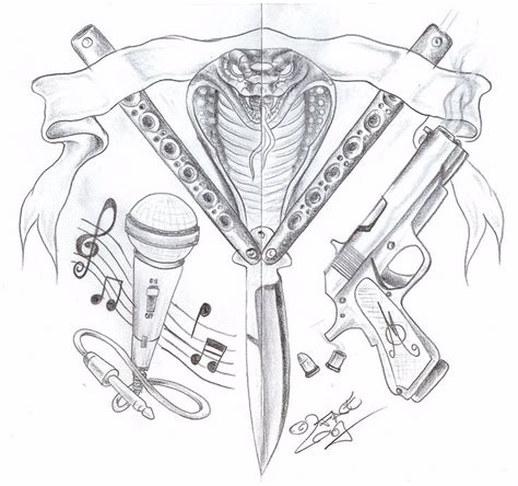 cross tattoo gang symbol gang knife gun tattoo design by 2face tattoo deviantart