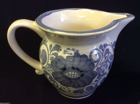 Keramik List 8x25 Ikas 02 gmundner keramik austria blue on white floral ceramic small pitcher creamer austrian