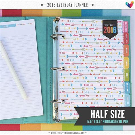 Printable Planner Pages 5 5 X 8 5