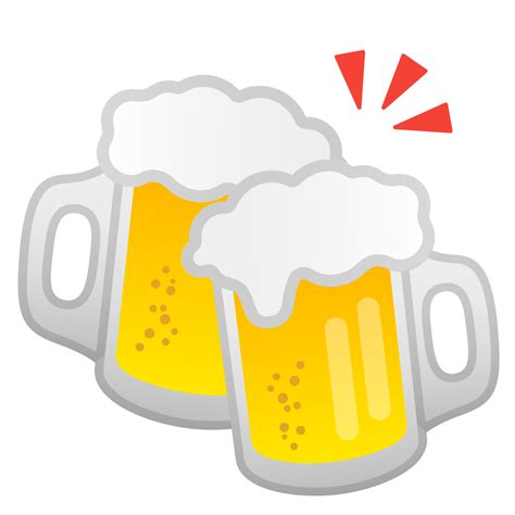beer emoji clinking beer mugs icon noto emoji food drink iconset