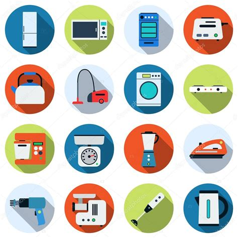 vintage home appliances icons stock vector illustration eletrodom 233 sticos vetor 237 cones vetor de stock 169 ulvur