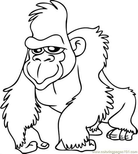 coloring pages of gorillas download