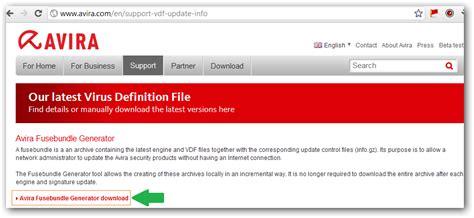 how to update bundler update avira manually using fusebundle generator
