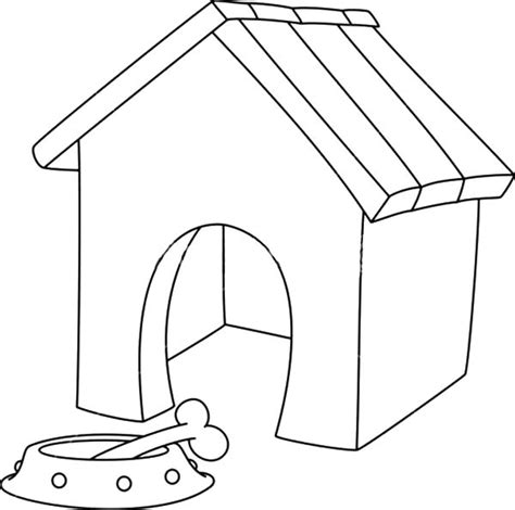 dog house coloring pages free part of the house coloring pages