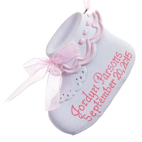 personalized baby ornaments personalized baby bootie ornament ornament
