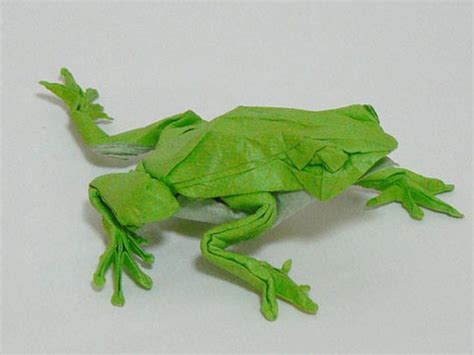 Origami Tree Frog - origami grenouille