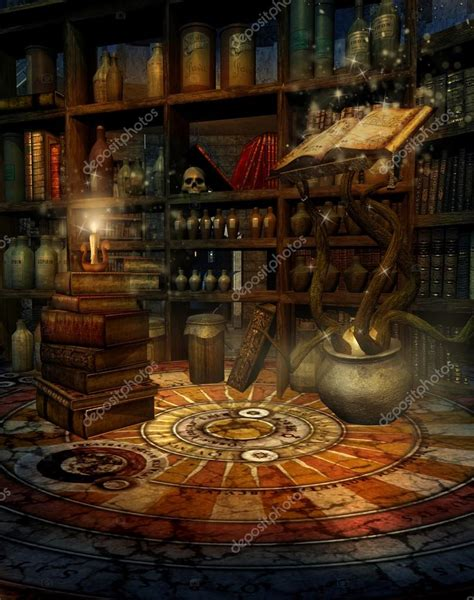 Kitchen Backdrops wizard s study stock photo 169 fairytaledesign 12671797