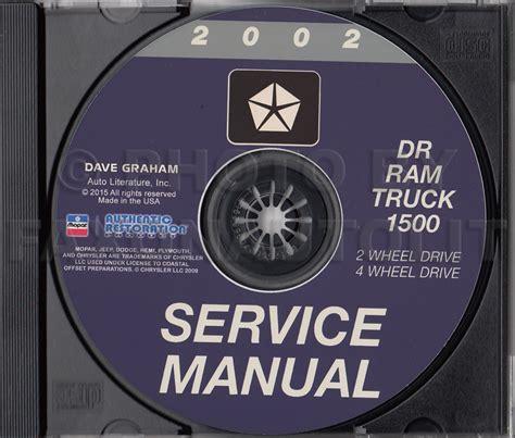 best car repair manuals 2002 dodge ram 1500 electronic toll collection 2002 dodge ram 1500 pickup truck cd rom repair shop manual