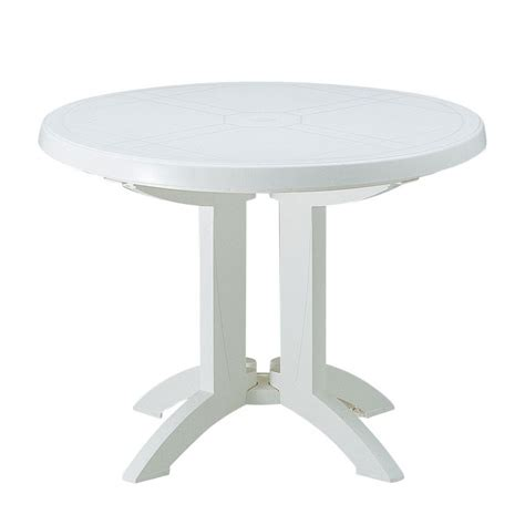 table ronde de jardin grosfillex