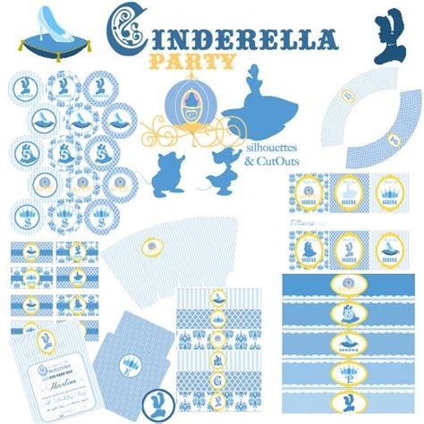 printable version of cinderella cinderella blue princess party printable kit the little