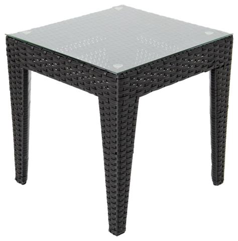 Outdoor Patio End Tables Providence Resin Wicker Patio End Table Contemporary Outdoor Side Tables By Ultimatepatio