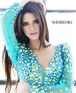 hair sherri hill kendall kylie jenner model sherri hill spring 2013 prom