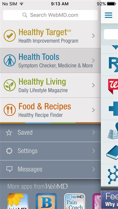 webmd mobile apps webmd app symptom checker medication reminder and