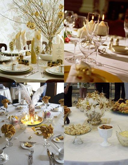 50th Wedding Anniversary Table Decorations with Gold and