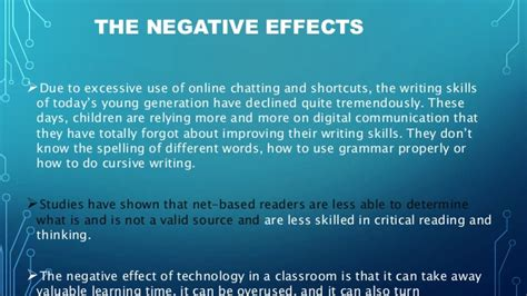 Effects Of Technology Essay by Technology Changing The Of Education
