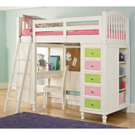 White Loft Bed With Desk Underneath by Black Wooden Bunk Bed With Desk Combined With Many Storage