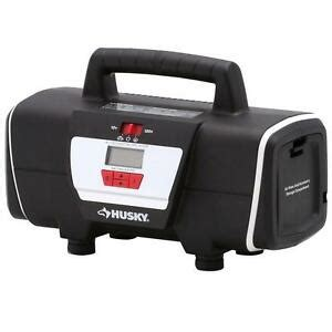 husky 12 volt 120 volt tire inflator portable electric air compressor ebay