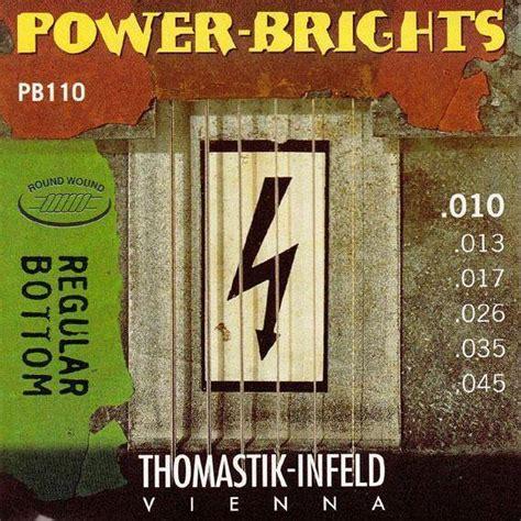 light or medium guitar strings thomastik infeld power brights regular bottom guitar