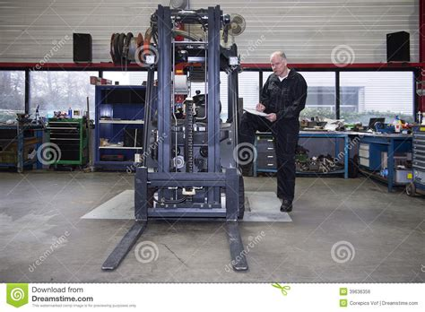 Forklift Technician by Forklift Quality Stock Photo Image 39636356