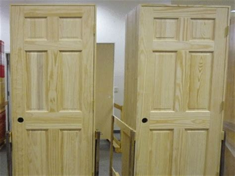 Pre Hung Solid Wood Interior Doors Set Of 8 Unfinished Solid Wood Pre Hung Clear Pine Interior Doors