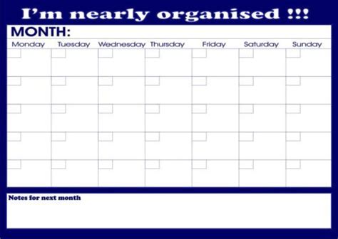 a3 printable monthly planner large a3 monthly planner student organiser homework
