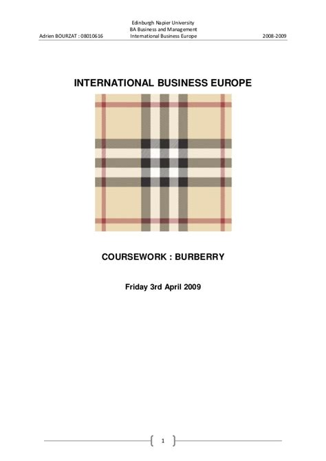 Burberry Mba by Company Background Burberry