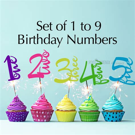 age cake topper birthday numbers svg svg cut file instant etsy