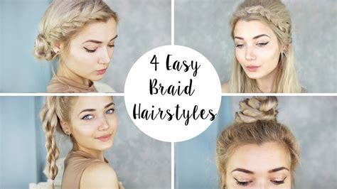Easy And Fast Hairstyles by 4 Braid Hairstyles Easy