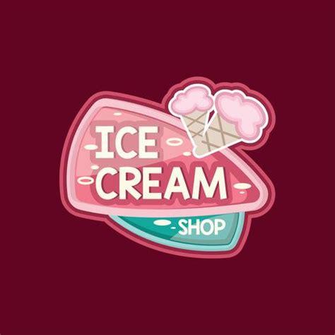cute ice cream shop logo   vectors clipart