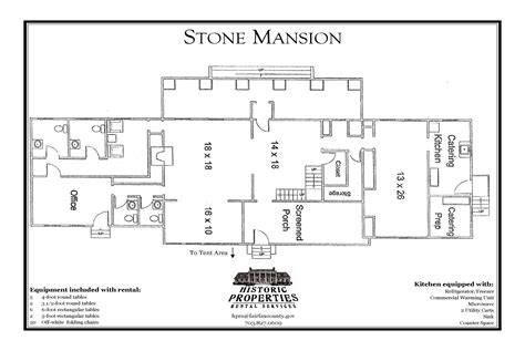 stone mansion floor plans stone mansion park authority