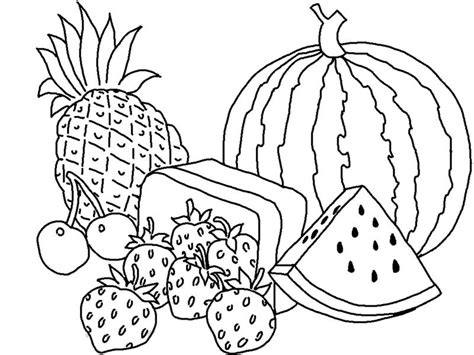 Coloring Pages Of Fruits And Vegetables fruit and vegetables coloring pages az coloring pages