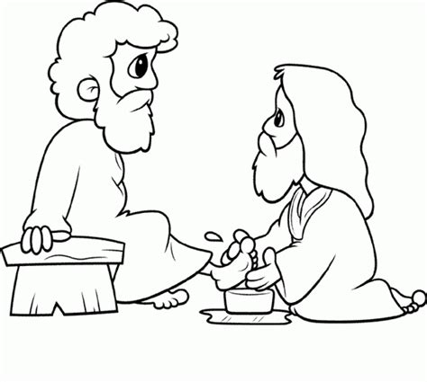 coloring pages jesus washing quot each other quot 13 1 38