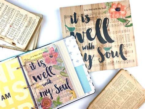 bible journaling ideas using hymnal book pages southern couture