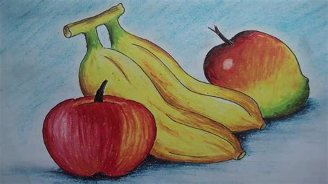 fruit drawings how to draw fruits with pastel