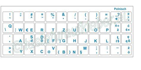 Tastatur Aufkleber Transparent tastaturaufkleber polnisch transparent