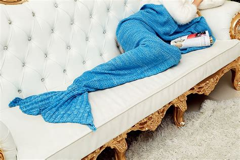 mermaid tail sofa blanket mermaid tail handmade crocheted rug moss knit cocoon sofa