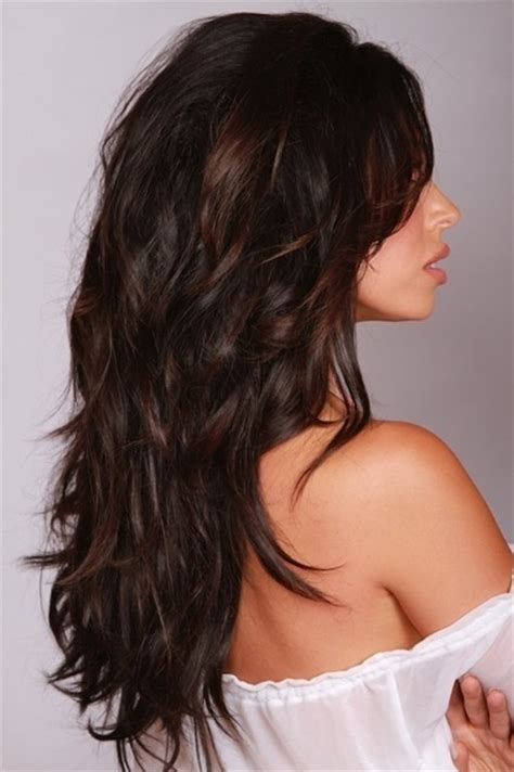 long hair short layers pictures of color cuts and up long layered dark warm brown hairstyles popular haircuts