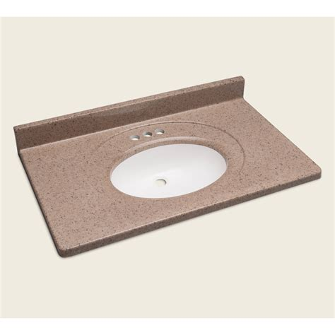 cultured marble bathroom sink shop style selections vanity walnut cultured marble
