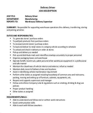 Sle Resume For Furniture Delivery Driver sle resume of delivery driver 28 images courier
