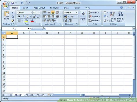 Produce Spreadsheets by How To Make A Spreadsheet To Do The Distance Formula 7 Steps