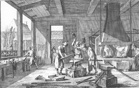 18th century black smith hair period sketches paintings and photos of blacksmiths