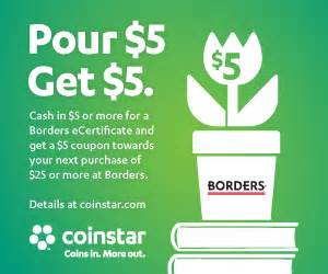 nearest coinstar machine coinstar borders pour 5 get 5 deal