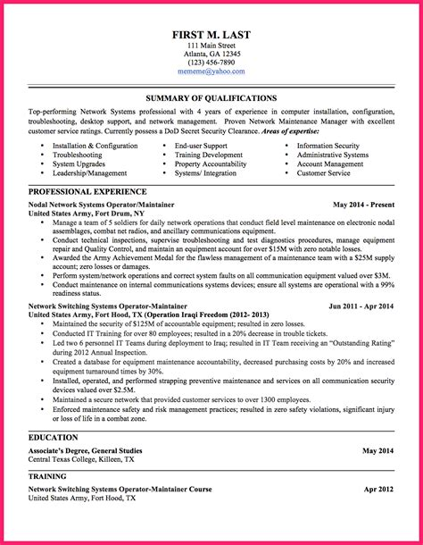 To Civilian Resume by To Civilian Resume Bio Letter Format