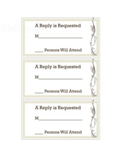free printable wedding rsvp card templates printable whisper of nature rsvp cards template